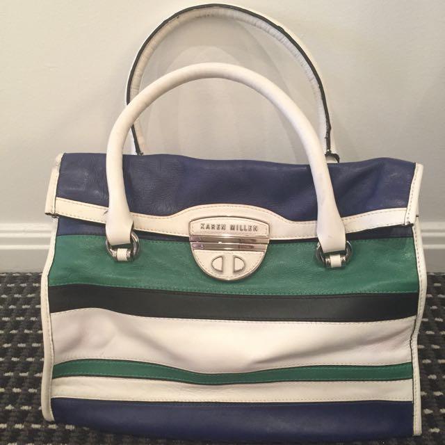 Karen Miller Limited Edition Stripe Colour Block Bag