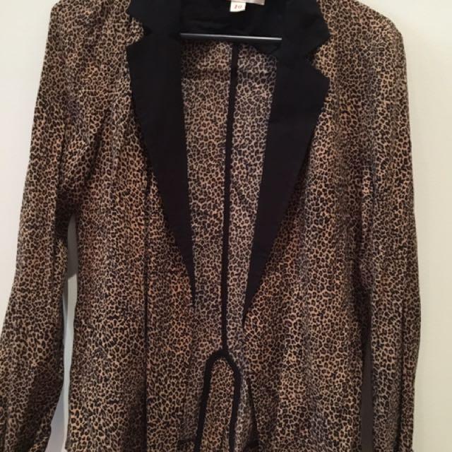 Kenji Leopard Print Blazer Sz 10