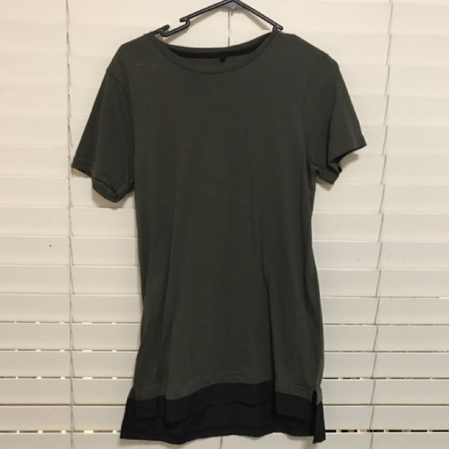 Khaki With Black Trim T-Shirt