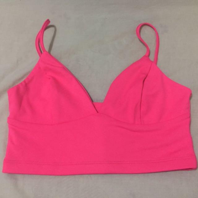 d2fe0770d7d89f Kookai Bralette Crop Top Hot Pink