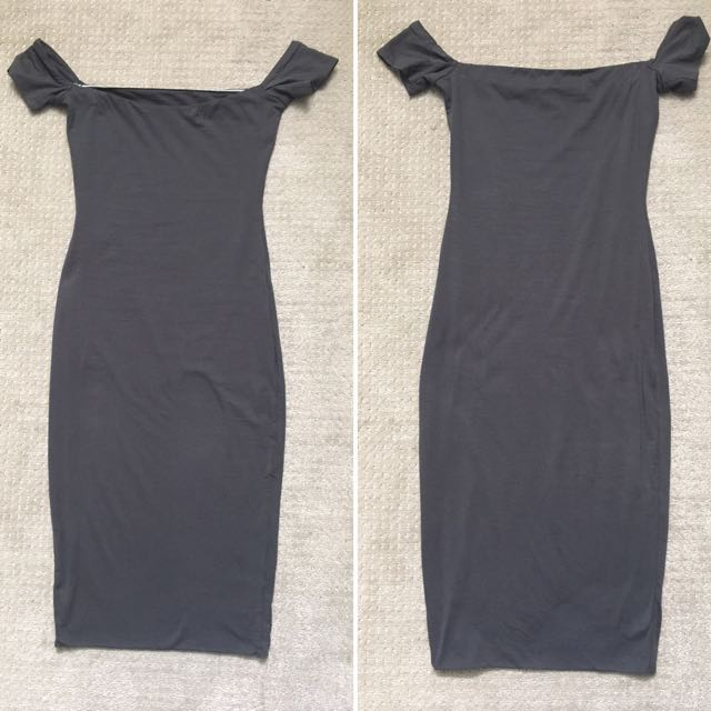 Kookai Charcoal Tight Midi Dress