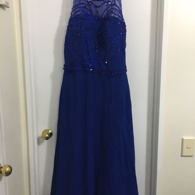 Lacey Blue Ball Dress