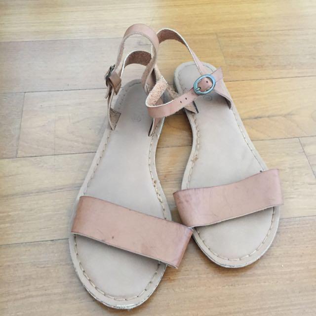 Ladies Tan Sandals