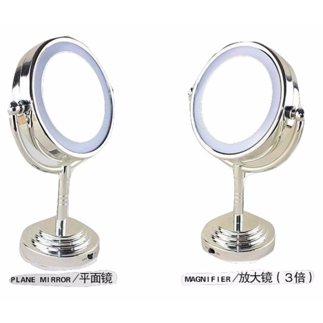 LED高清雙面化妝鏡連LED燈
