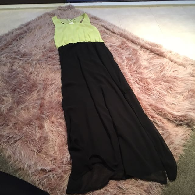 Long Faux Chiffon Dress