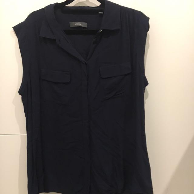 Marcs Navy Sleeveless Shirt