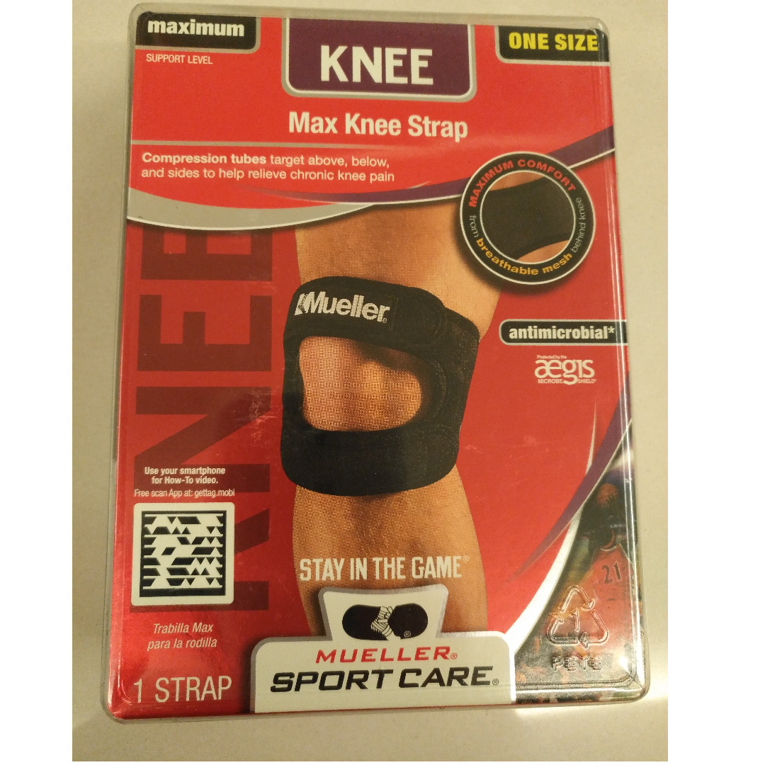288a3e40fd Mueller Max Knee Strap, Sports, Other on Carousell