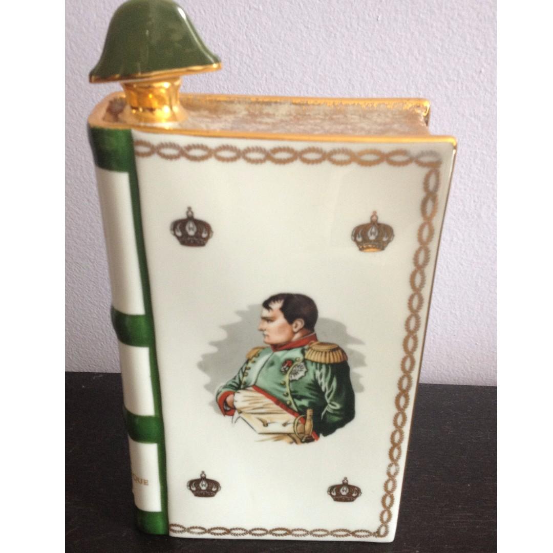 Napoleon Camus Cognac Book Bottle Decanter Porcelain - 1969 -