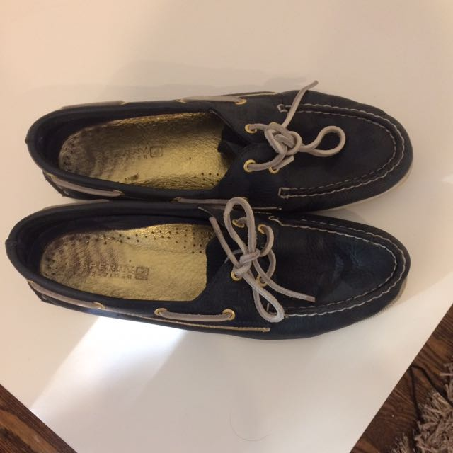 Navy And White Women's Sperrys TopSider