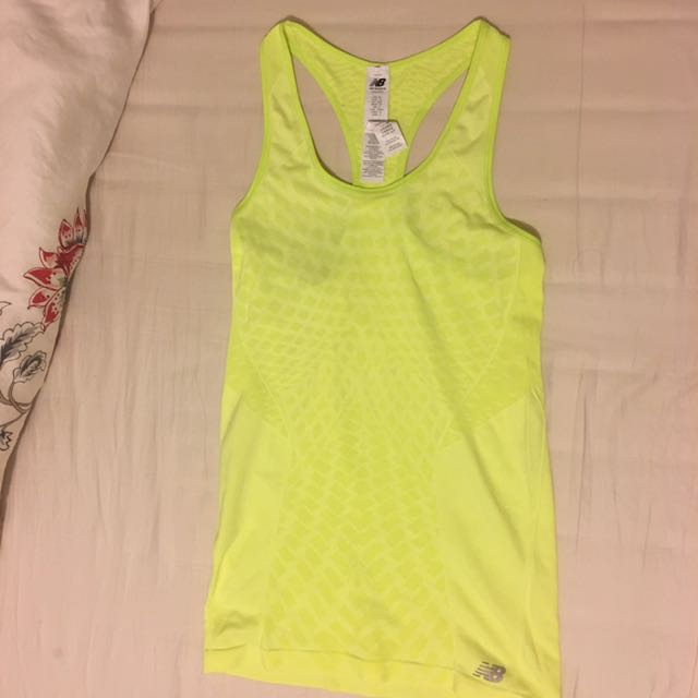 NEW BALANCE Women's Lime Glo Tank/Singlet XS! NEW