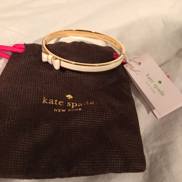 New Kate Spade White And Gold Bangle