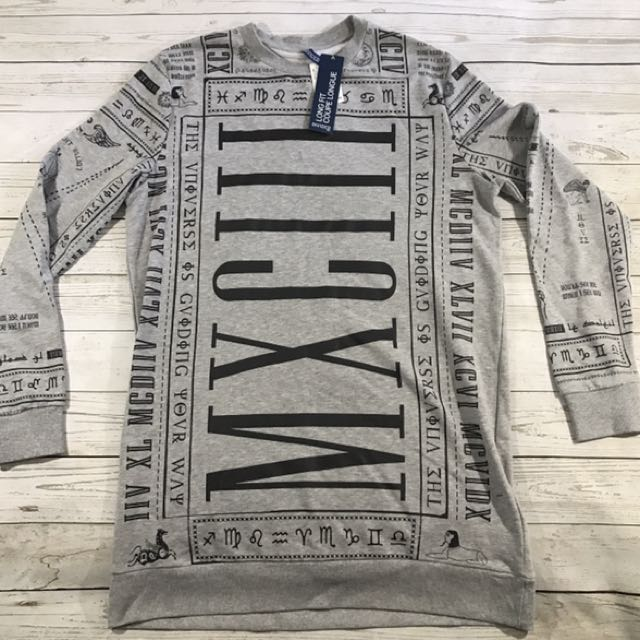 New With Tag Long Grey Sweater Sz-XL