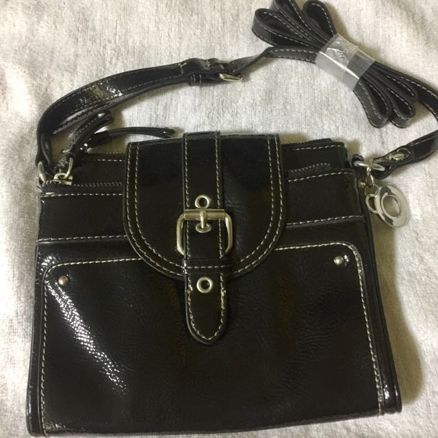 Nine West Black Leather Sling Bag