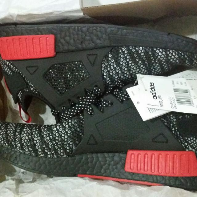 7777499069be3 Adidas NMD XR1 BLACK RED Footlocker Exclusive