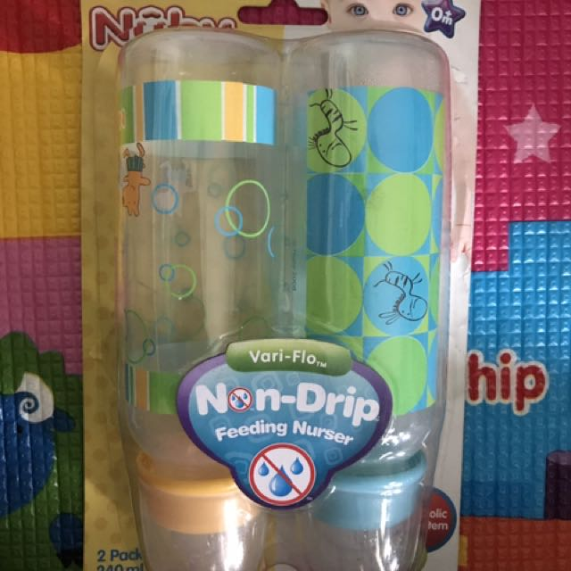 Nuby 2pack 240ml Non-Drip Feeding Nurser Anti-Colic