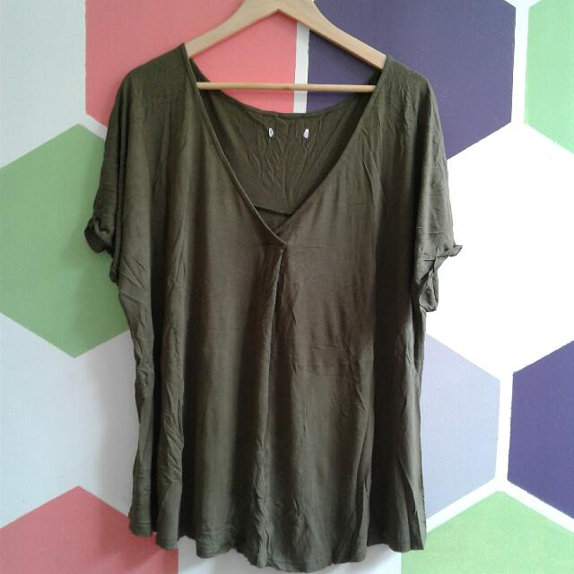 Olive Batwing Blouse