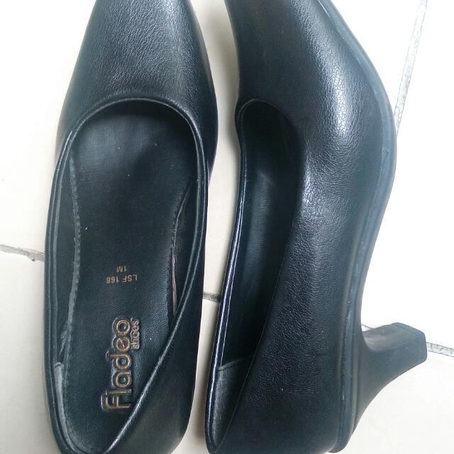 Pantopel Black Leather Shoes Fladeo