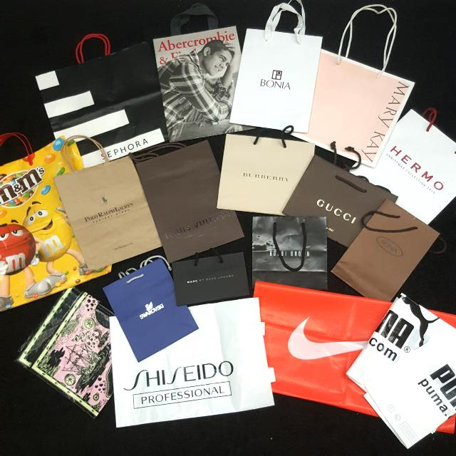 #LagiBest70 S-M . Gucci $23 . Paper Bag . Luxury . Clearance: Support Recycle . Paper Bag . Multi Branded Bag . International Brand