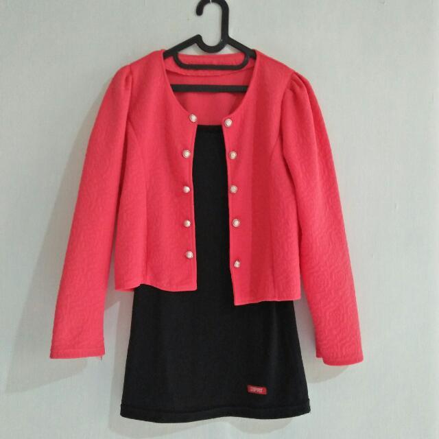 Pink ribbon blazer
