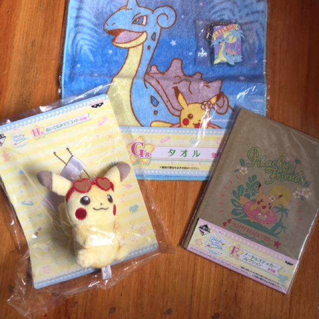 Pokemon Centre Ichiban kuji Lottery Prizes