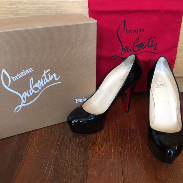 the best attitude 7d9b3 a165f Pre❤️Auth Christian Louboutin Bianca 120 Patent Calf Size ...