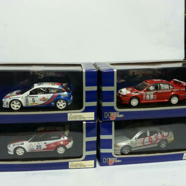 Die Cast Mobil Rally edition by High Speed Skala 1:43   Ford Escort rally  Toyota Corolla WRC Mitsubhisi lancer evo IV rally Audi A4 quattro rally Kondisi unit mulus Dus mulus Harga 285 rb   Ambil spaket 1 jt take all !!