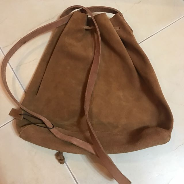Real Leather Bucket Bag