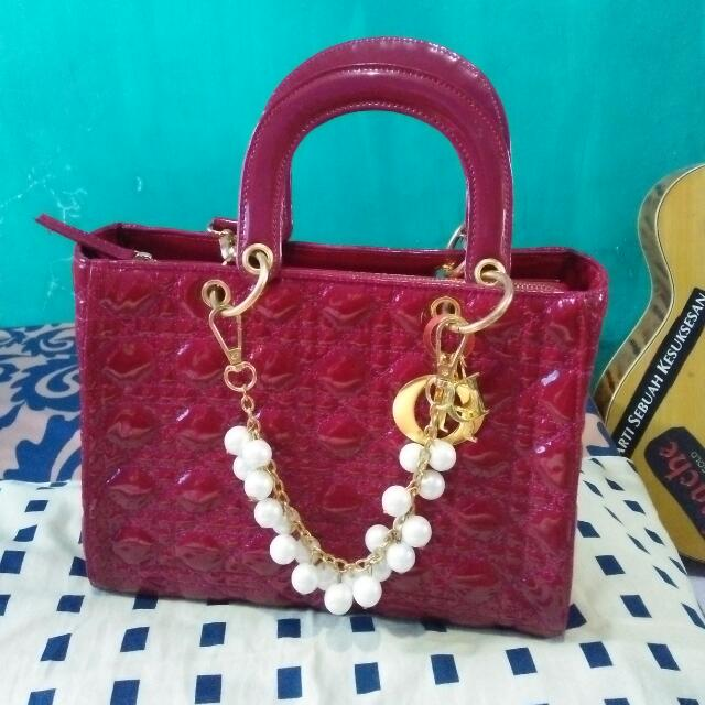 Re-Price Tas Dior Maroon