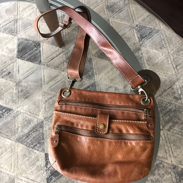 Roots Genuine Leather Cross-body Purse