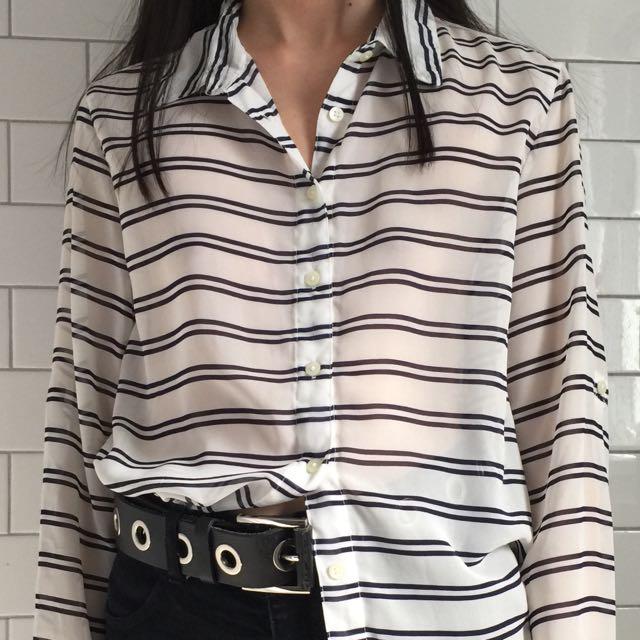 silky striped shirt
