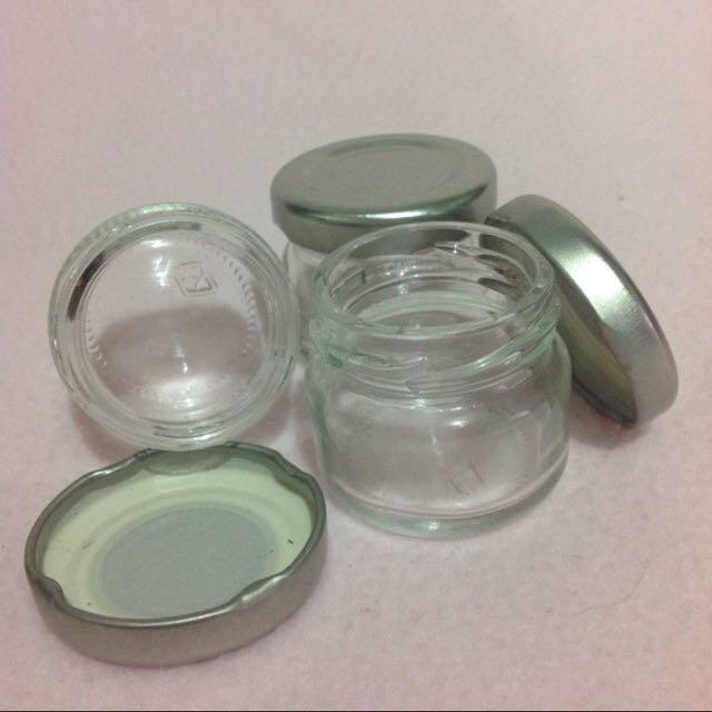 Small Clear Jars