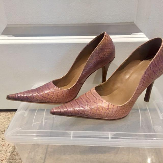 Maroon Pink Stilettos