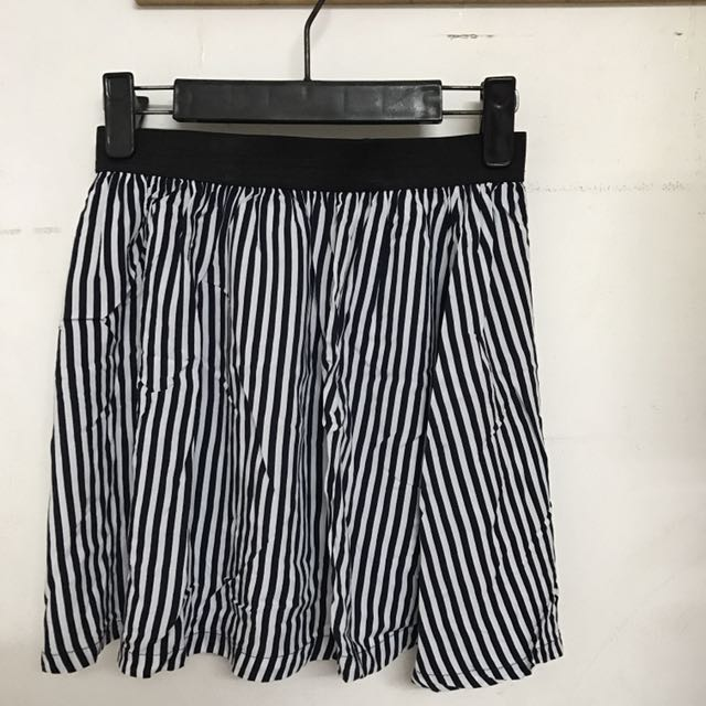 Stripes Skirt Blue Navy-White (Cotton On)