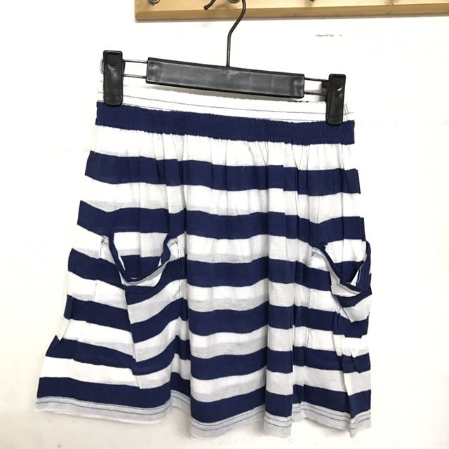 Stripes Skirt Blue-White (Forever 21)