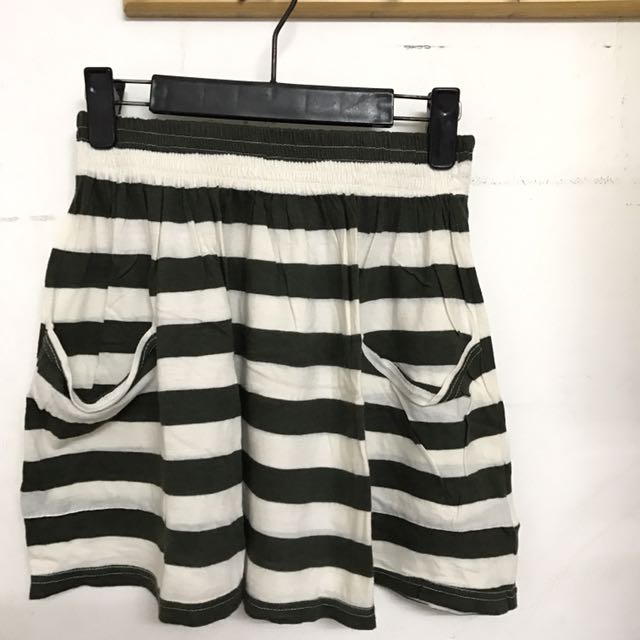 Stripes Skirt Green (Forever 21)