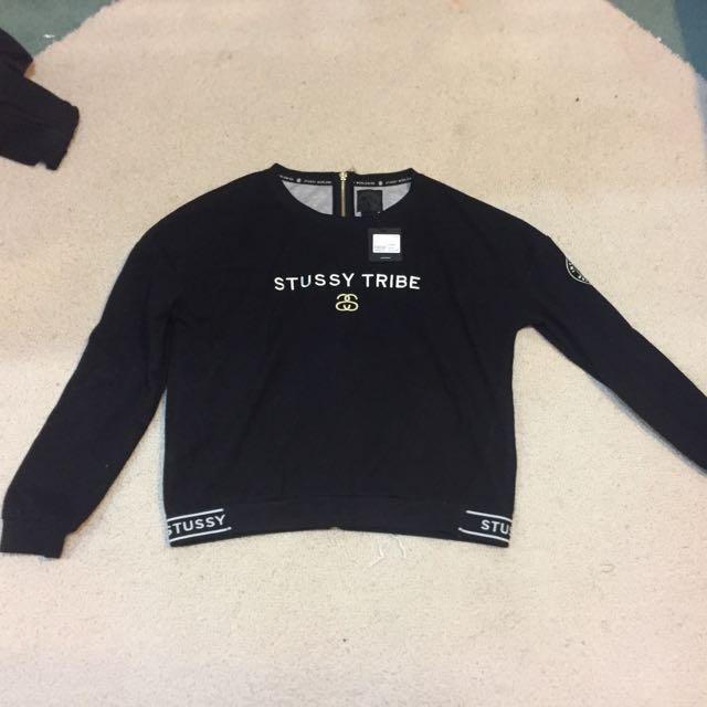 Stussy Jumper, Black Size 8