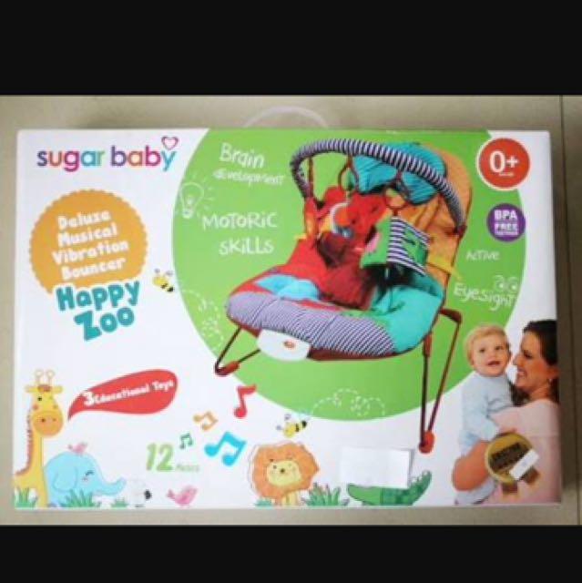 Sugarbaby Bouncer Happy Zoo
