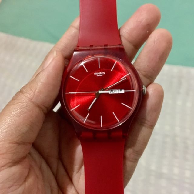 Swatch Rubber Watch Red