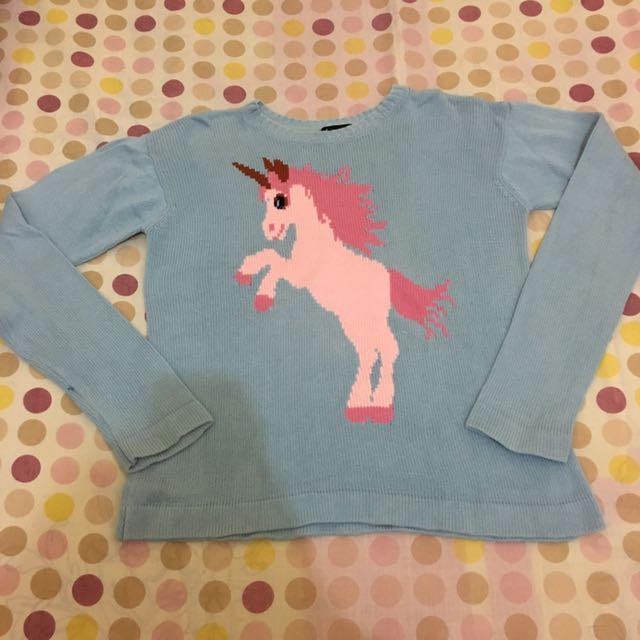 Sweater rajut knitwear unicorn by amoreknits
