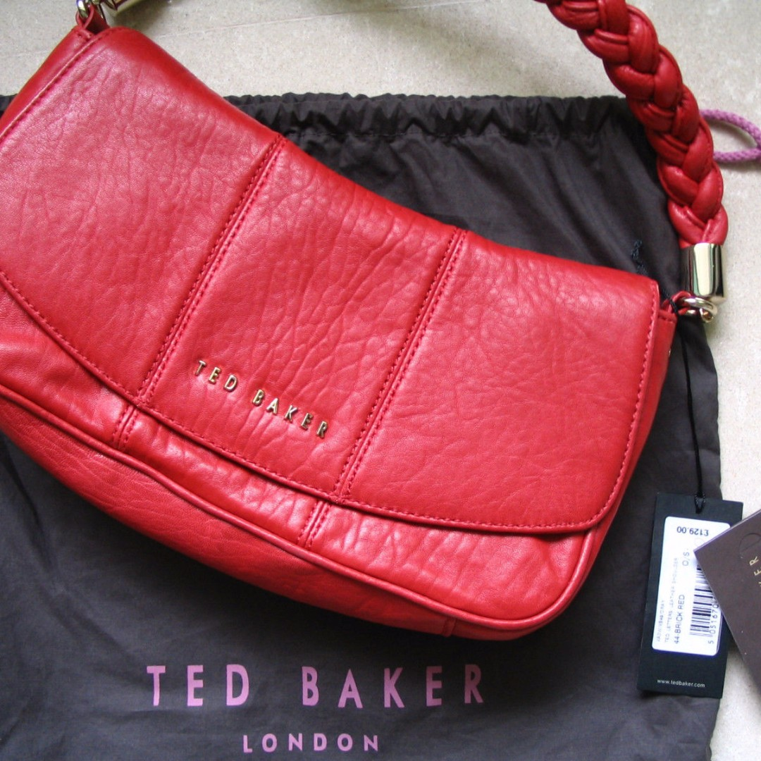 ef7b59f73 TED BAKER RED LEATHER SHOULDER HANDBAG NWT