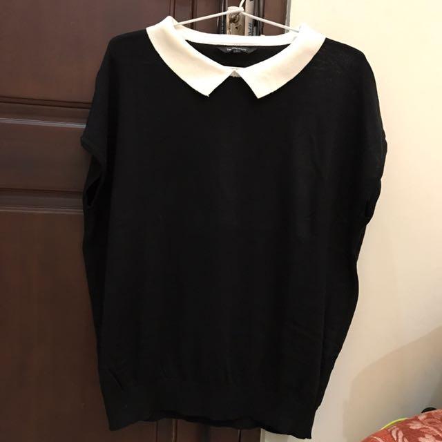 The Executive Black T-bow Shirt