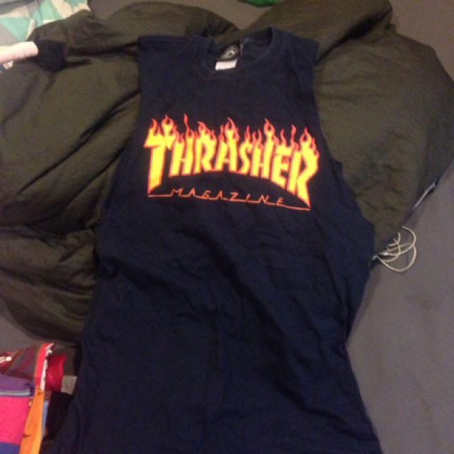 Thrasher 背心 Oversize