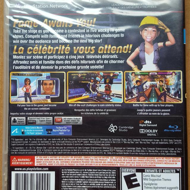 TV Superstars PS3 Game