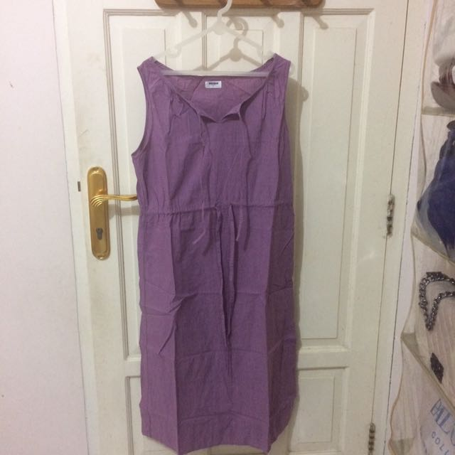 Uniqlo Midi Dress In Purple