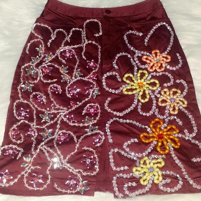 Uniqlo skirt w/sewn-in beads