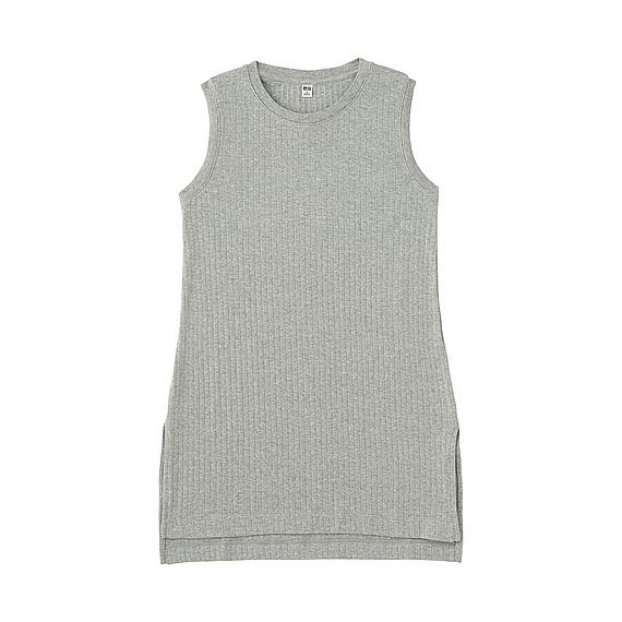 30f796830673c4 Uniqlo WOMEN Rib Sleeveless Long T-Shirt