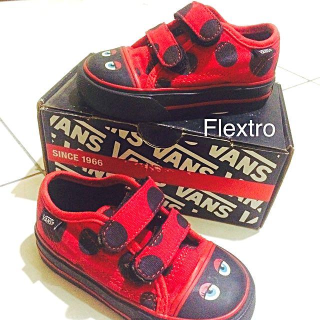 26997e98ee Vans Big School for toddler (Buggin red black)
