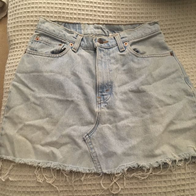 Vintage Levi Cut Off Skirt Sz 8