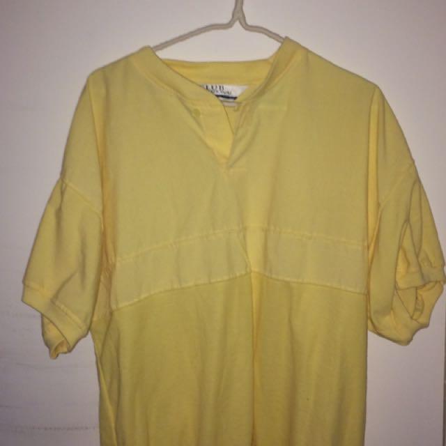 Vintage Oversized Yellow Shirt