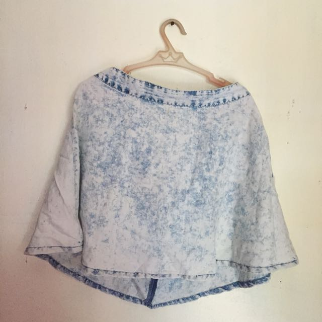 Washed Denim Skater Skirt